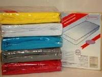 Простынь махровая на резинке 200х240 см для матраса 160х200 см разные окрасы