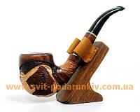 Курительная трубка большая с резьбой «Лев грива», оригинальный подарок
