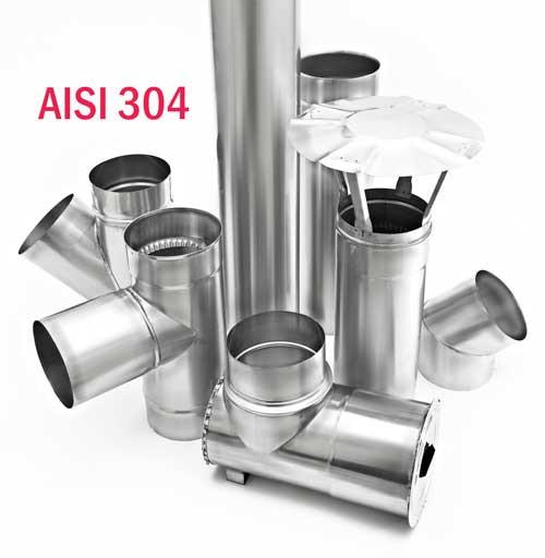 Дымоход из нержавейки AISI 304