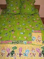 Детское постельное белье полуторное Фиксики комплект подростковый