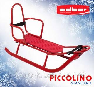 Санки детские со спинкой Adbor Piccolino красные