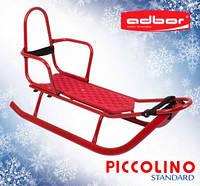 Санки детские со спинкой Adbor Piccolino красные, фото 1
