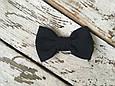 Галстук-бабочка черная, фото 4