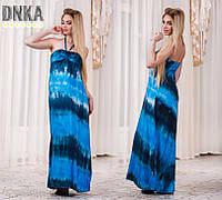 Платье в пол Полоска Бюстье на резинке Открытые Плечи Сарафан Летний