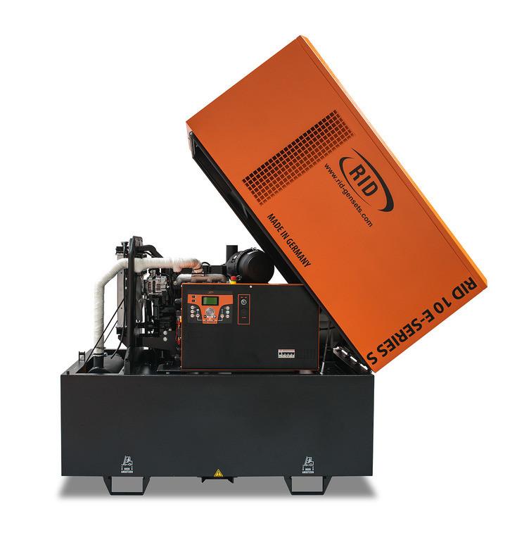 Дизельний однофазний генератор RID 10/1 E-SERIES S (10 кВа) антивандальний капот + автозапуск