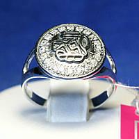 Кольцо из серебра с камнями циркония 1001