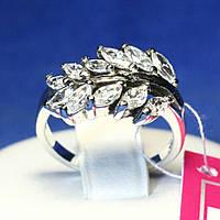 Серебряное кольцо с цирконием Веточка 1032