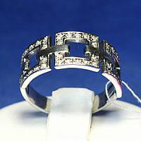 Серебряное кольцо с чернением Три Квадрата 1048, фото 1