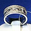 Толстое серебряное кольцо Осенний узор 3680 мм