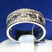 Серебряное кольцо с узором из листьев 3680 мм, фото 1