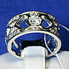 Серебряное кольцо Сердце с цирконием 3710 мм