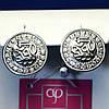 Круглые серебряные серьги 2001