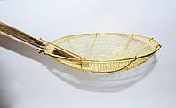 Шумовка-паук бамбуковая золотая 20 см, фото 1