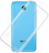 Прозрачная силиконовая накладка для Meizu M2 mini