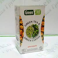 Green FIT Зеленый чай и зеленый кофе для похудения Ананасовый 25*2г