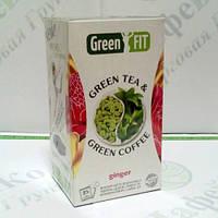 Green FIT Зеленый чай и зеленый кофе для похудения Имбирный 25*2г
