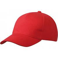 Пятипанельная Кепка Heavy Cotton, красный