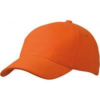 Пятипанельная Кепка Heavy Cotton, оранжевый