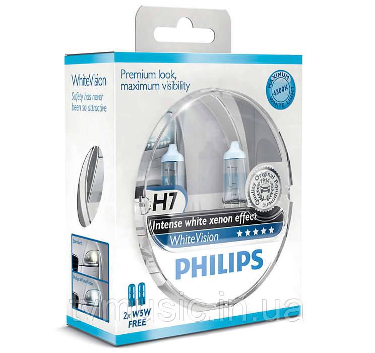 Галогенные лампы Philips WhiteVision H7 12V 55W (12972WHVSM)