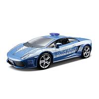 Автомодель - LAMBORGHINI GALLARDO LP560 POLIZIA, (голубой, 1:32) Bburago 18-43025