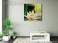 Модульная картина Белая Лилия на ткани 100х100 см, арт. FA-10 001462