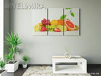 Модульная картина Фотокартина Свежесть на ткани 90х150 см, арт. FA-10 001477