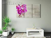 Модульная картина Фотокартина Орхидея и дерево 2 на ткани 90х150 см, арт. FA-10 001486