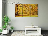Модульная картина Фотокартина Золотая осень на ткани 90х150 см, арт. FA-10 001481