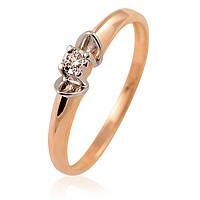 Кольцо из золота с бриллиантом, фото 1