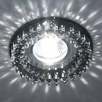 Светильник точечный с кристаллами Feron CD 2540 чёрный
