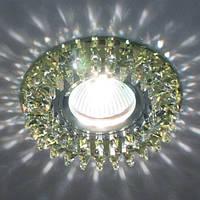 Светильник точечный с кристаллами Feron CD 2540 жёлтый
