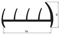 Профиль резиновый 105mm