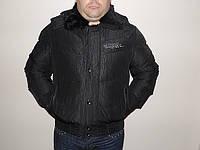 Мужская куртка с натуральным воротником .