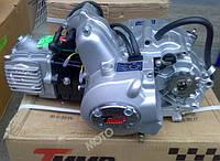 Двигатель 110 см3 полуавтомат мопед Альфа/Дельта/Актив