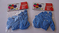 """Воздушные шарики латексные 10шт """"Голубые"""" круглые,качественные .Воздушные шарики латексные. Шар латексный круг"""