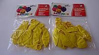"""Воздушные шарики латексные 10шт """"Желтые"""" круглые,качественные .Воздушные шарики латексные. Шар латексный кругл"""