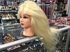Голова манекен блонд, натуральный волос, длина 65 см