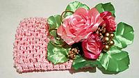 Повязка на голову Цветок (широкая)