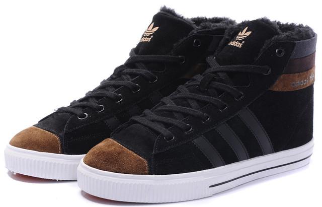 Кроссовки мужские зимние Adidas Aditennis / WNTR-086 (Реплика)