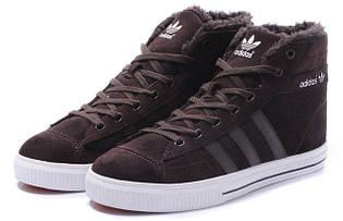 Кроссовки женские зимние Adidas Aditennis / WNTR-189 (Реплика)