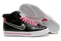 Кроссовки женские зимние Nike Blazer / WNTR-196 (Реплика)