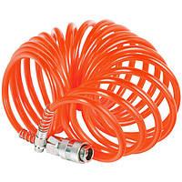 Шланг спиральный для пневмоинструмента с переходниками 6*8*20м