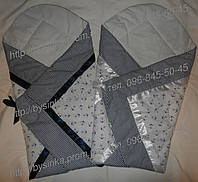 """Многофункциональный Конверт-плед-одеяло на выписку новорожденного """"Морячек"""", цвет 4, фото 1"""