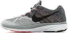 Мужские кроссовки Nike Flyknit Lunar 3 Wolf Grey Hot Lava, найк флайкнайт