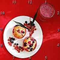 """Часы настенные  """"Сладкий завтрак"""" стеклянные"""