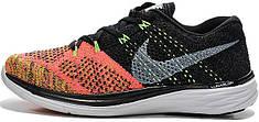 Мужские кроссовки Nike Flyknit Lunar 3 Black Hot Lava, найк флайкнайт, лунар