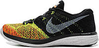 Мужские кроссовки Nike Flyknit Lunar 3 Black Total Orange, найк флайкнайт