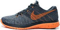 Мужские кроссовки Nike Flyknit Lunar 3 Classic Charcoal, найк флайкнайт