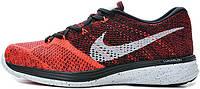 Мужские кроссовки Nike Flyknit Lunar 3 Bright Crimson University Red, найк флайкнайт