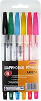 Набор цветных шариковых ручек Biefa 6 цветов
